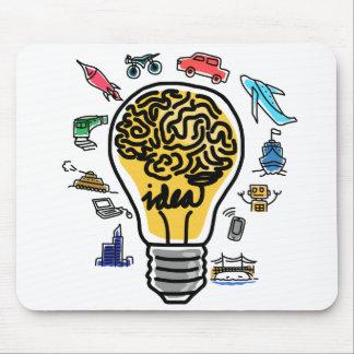 球根および頭脳のアイディアのマウスパッド マウスパッド