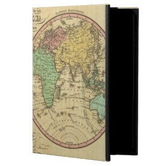 球状投射の世界の地図 iPad AIRケース