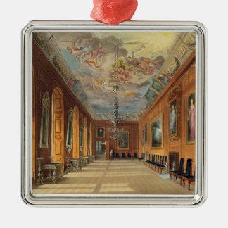 球部屋、「王室のなResidenからのWindsorの城、 シルバーカラー正方形オーナメント
