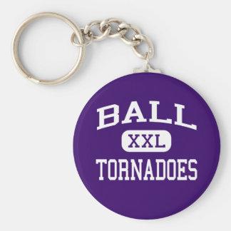 球-トルネード-高等学校- Galvestonテキサス州 キーホルダー
