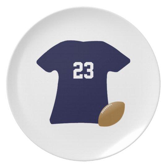 球v2が付いているあなたのフットボールのワイシャツ プレート