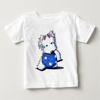 球Westieのプリンセス ベビーTシャツ