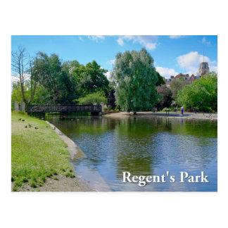 理事の公園のロンドンの郵便はがき ポストカード