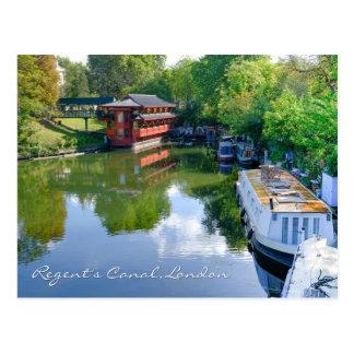 理事の運河のロンドンイギリスの郵便はがき ポストカード