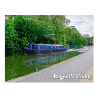 理事の運河、ロンドンのイギリスの郵便はがき ポストカード