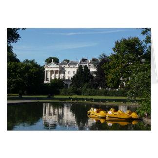 理事公園の船遊び カード