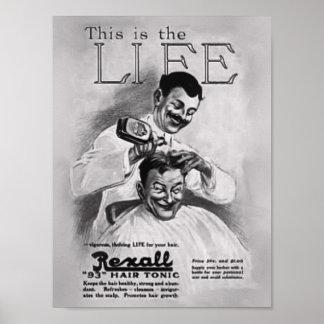 理容師のグルーミングポスター ポスター