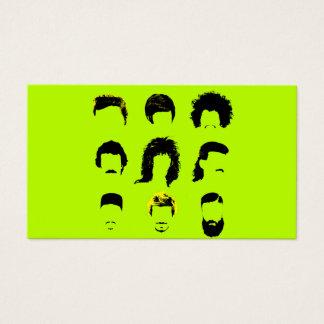 理容師のヘアーサロン-さまざまなヘアスタイル 名刺