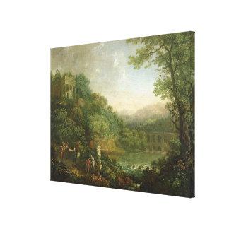 理想的な景色1776年 キャンバスプリント