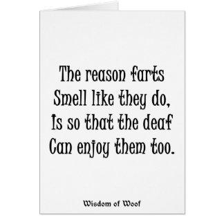 理由は臭いそれらがように屁をします カード