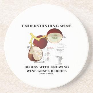 理解のワインはブドウ酒用ブドウを知っていることから始まります コースター