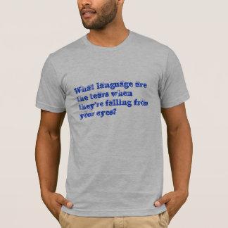 理解の言語 Tシャツ