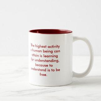 理解-赤 ツートーンマグカップ