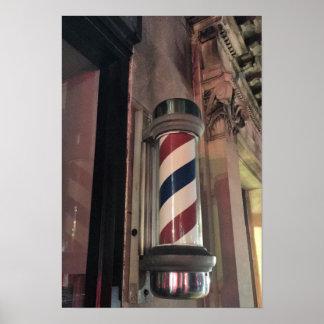 理髪店のポーランド人の写真 ポスター