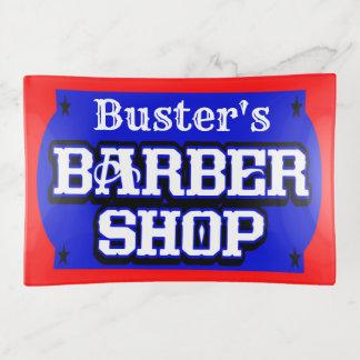 理髪店の印の先端の皿7 トリンケットトレー