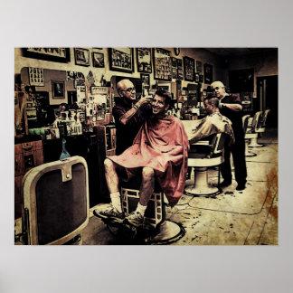 理髪店の四つ組 ポスター