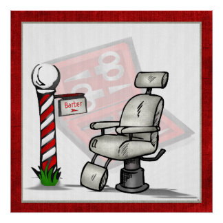 理髪店の装飾 ポスター