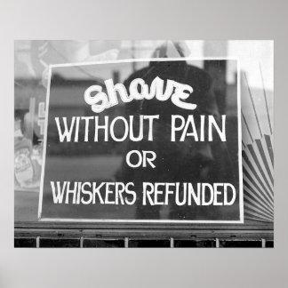 理髪店Sign 1942年。 ヴィンテージの写真 プリント