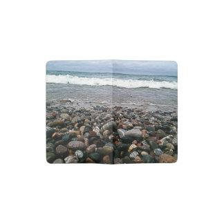 瑪瑙のビーチ1 ポケットMoleskineノートブック