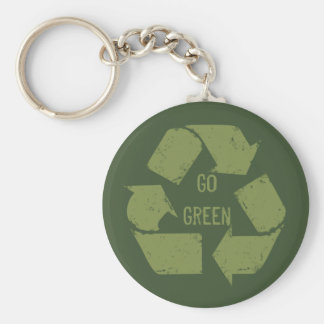 環境にやさしいことをしようのリサイクルのロゴ キーホルダー