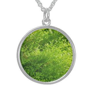 環境にやさしいことをしようの自然な植物の銀の円形のネックレス スターリングシルバーネックレス