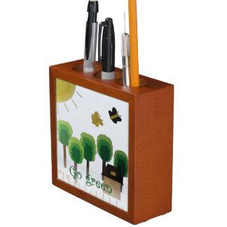 環境にやさしいことをしようの芸術の景色の机のオルガナイザー ペンスタンド