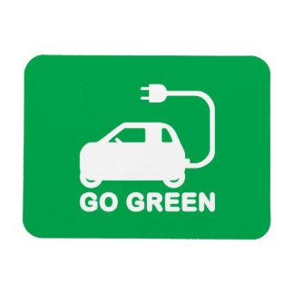 環境にやさしいことをしようの~ドライブ電気自動車 マグネット