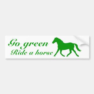 環境にやさしいことをしようは、馬に乗ります バンパーステッカー