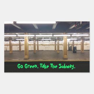 環境にやさしいことをしよう! 公共輸送を使用して下さい! 長方形シール