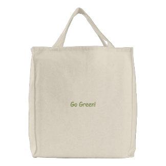環境にやさしいことをしよう! 刺繍入りトートバッグ