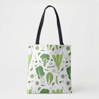環境にやさしいことをしよう! 葉が多い緑! 幸せな庭の野菜 トートバッグ