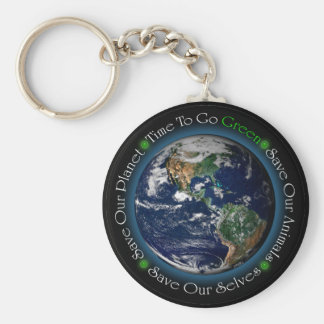 環境にやさしいことをしようKeychainに時間を計って下さい キーホルダー
