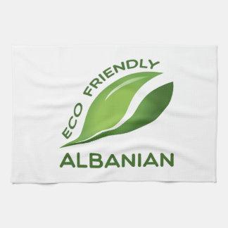 環境にやさしいアルバニア語 キッチンタオル