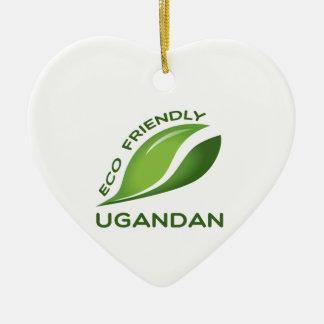 環境にやさしいウガンダ人 セラミックオーナメント