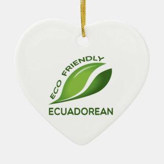 環境にやさしいエクアドル セラミックオーナメント
