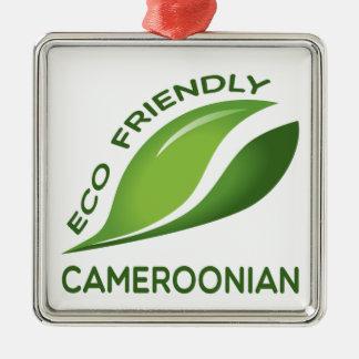 環境にやさしいカメルーン人 メタルオーナメント