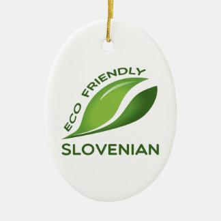 環境にやさしいスロベニア語 セラミックオーナメント