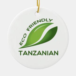 環境にやさしいタンザニア人 セラミックオーナメント