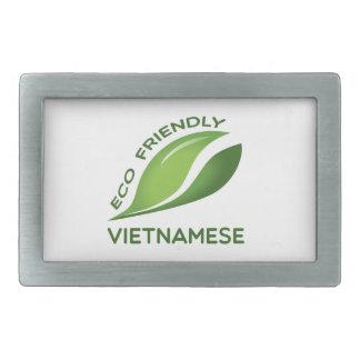 環境にやさしいベトナム語 長方形ベルトバックル