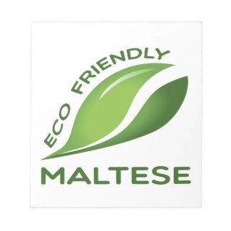 環境にやさしいマルタ ノートパッド