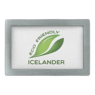 環境にやさしいIcelander. 長方形ベルトバックル