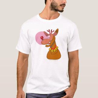 環境に優しいトナカイ赤いCFLのクリスマス Tシャツ