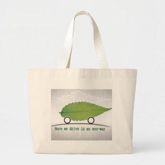 環境に優しい方法バッグの車の運転 ラージトートバッグ