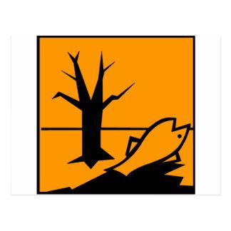 環境に危険をもたらすものの記号 ポストカード