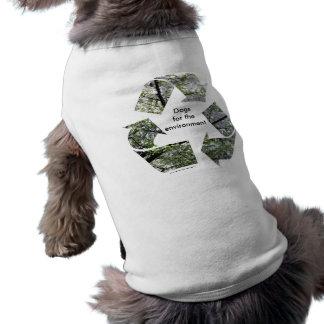 """""""環境のための犬""""犬のTシャツ ペット服"""