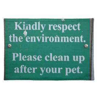 環境の印 ランチョンマット