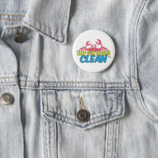 環境は私達の海洋のきれいなスローガンのバッジを保ちます 缶バッジ