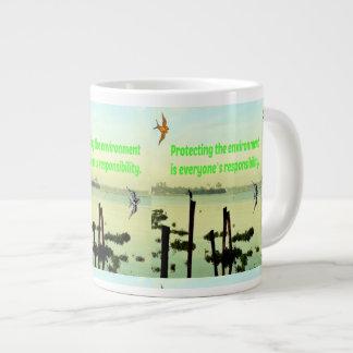 環境を保護しているCanecaはresponsibです ジャンボコーヒーマグカップ