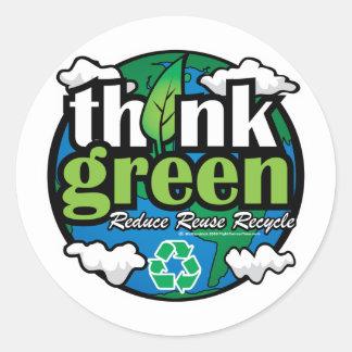 環境を考えるの地球 ラウンドシール