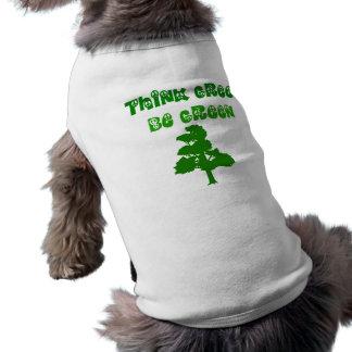 環境を考えるは緑犬のTシャツです ペット服